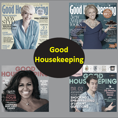 Good Housekeeping, Most Popular Magazines in 2019,Top 7best Magazines of 2019,Good Housekeeping,The Watchower,Game Informer,AARP The Magazine,Readers Digest
