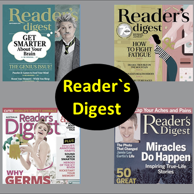 Reader`s Digest, , Most Popular Magazines in 2019,Top 7best Magazines of 2019