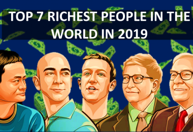 Top 7 Richest people In The World In 2019 With Net-Worth $61.7-145.3,Carlos Slim Helu, Larry Ellison,Amancio Ortega , Warren Buffett, Bill Gates,  Jeff Bezos